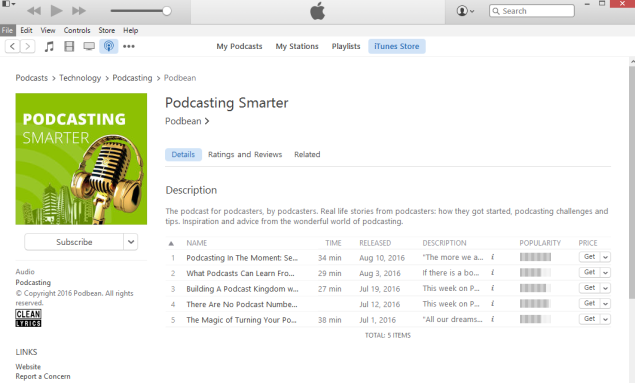 iTunes | Podcasting Blog